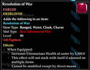 Resolution of War