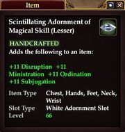 Scintillating Adornment of Magical Skill (Lesser)