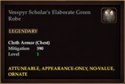 Vesspyr Scholar's Elaborate Green Robe