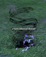 A torn ethereal thread