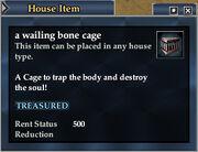 A wailing bone cage