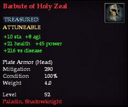 Barbute of Holy Zeal
