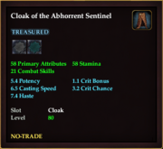 Cloak of the Abhorrent Sentinel