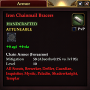 Iron Chainmail Bracers