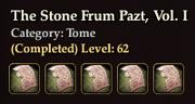 The Stone Frum Pazt, Vol. I coll