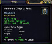 Wanderer's Chaps of Fangs