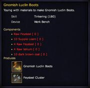 Gnomish Luclin Boots (recipe)
