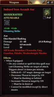 Imbued Iron Assault Axe