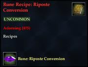 Rune Recipe- Riposte Conversion