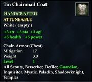Tin Chainmail Coat