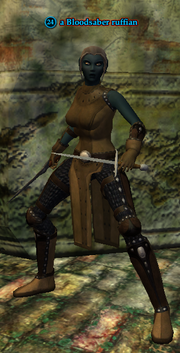 A Bloodsaber ruffian (dark elf)
