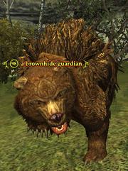 A brownhide guardian