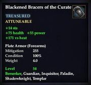 Blackened Bracers of the Curate