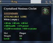 Crystalized Noxious Circlet