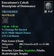 Executioner's Cobalt Breastplate of Dominance