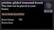 Gilded Ironwood Bench