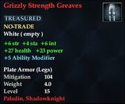 Grizzly Strength Greaves
