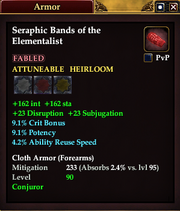 Seraphic Bands of the Elementalist