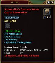 Stormcaller's Summer Weave Cap of Restoration