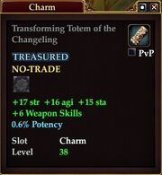 Transforming Totem of the Changeling
