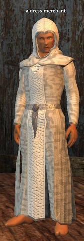 A dress merchant