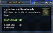 A pristine medium bench