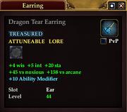 Dragon Tear Earring