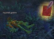 Injured goblin