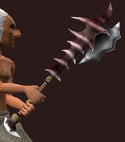 Iron Spiked Hammer (Equipped)