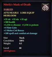 Nitrik's Mark of Death