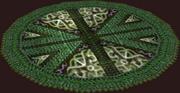 Round Segmented Verdant Rug (Placed)