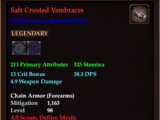 Salt Crusted Vambraces (0 Gem)