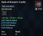 Sash of Karnor's Castle