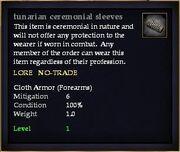 Tunarian ceremonial sleeves