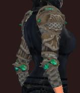 Vesspyr Warrior's Bronze Pauldrons (Equipped)