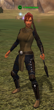 A huntsman (human)