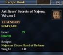 Artificers' Secrets of Najena, Volume I