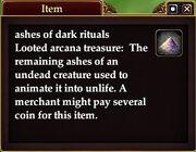 Ashes of dark rituals