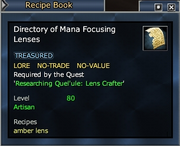 Directory of Mana Focusing Lenses