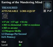 Earring of the Wandering Mind