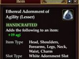 Ethereal Adornment of Agility (Lesser)