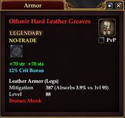 Othmir Hard Leather Greaves