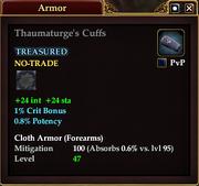 Thaumaturge's Cuffs