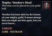 Trophy Venekor's Head