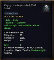 Zephyre's Augmented Mail Shirt