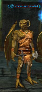 A Scaleborn ritualist