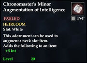 Chronomaster's Minor Augmentation of Intelligence