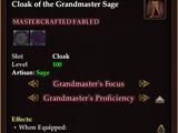 Cloak of the Grandmaster Sage