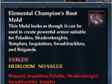 Elemental Champion's Boot Mold