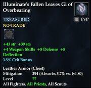 Illuminate's Fallen Leaves Gi of Overbearing